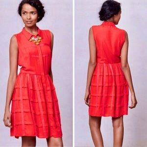 Anthro Sachin + Babi Red Tiered Habitual Dress